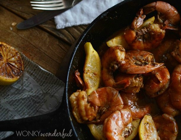 New Orleans Barbecue Shrimp Recipe - Barbeque Bbq - cajun shrimp - wonkywonderful.com