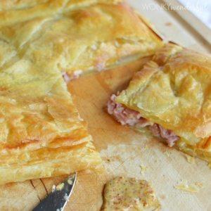 Ham and Cheese Puff Pastry Bake
