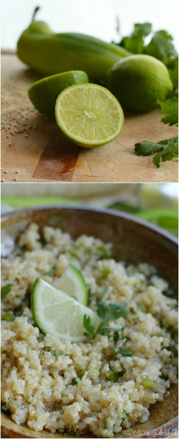 Cilantro Lime Quinoa - gluten free recipe - healthy alternative to rice - wonkywonderful.com