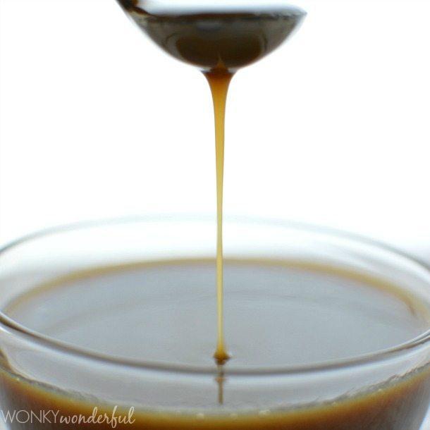 Vegan Caramel Recipe - Dairy Free Caramel Sauce Recipe - 3 Ingredients! No thermometer needed. wonkywonderful.com