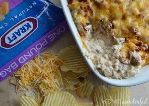 Bacon Cheeseburger Dip Recipe - Appetizer - #SayCheeseburger #SoFabCon14 #CollectiveBias - wonkywonderful.com