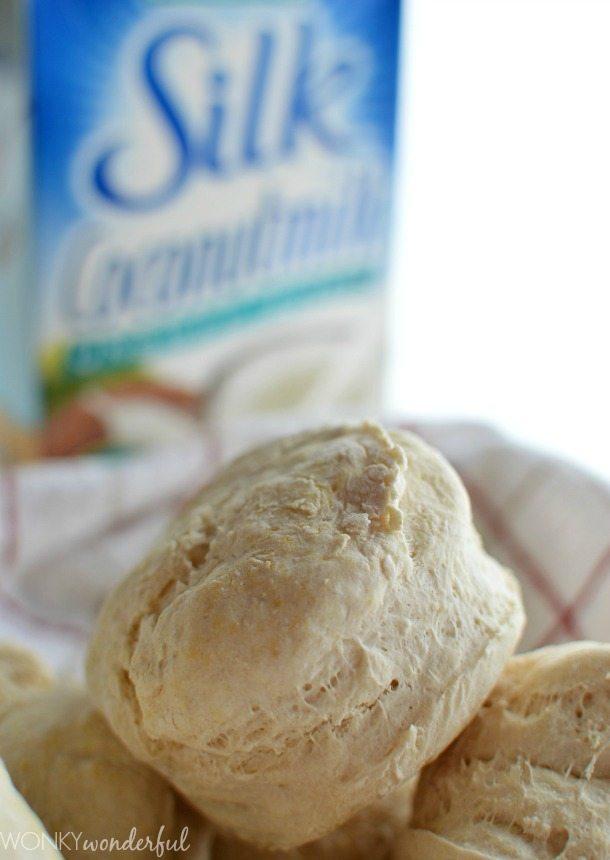 Easy Biscuit Recipe - Dairy Free - Vegan - wonkywonderful.com
