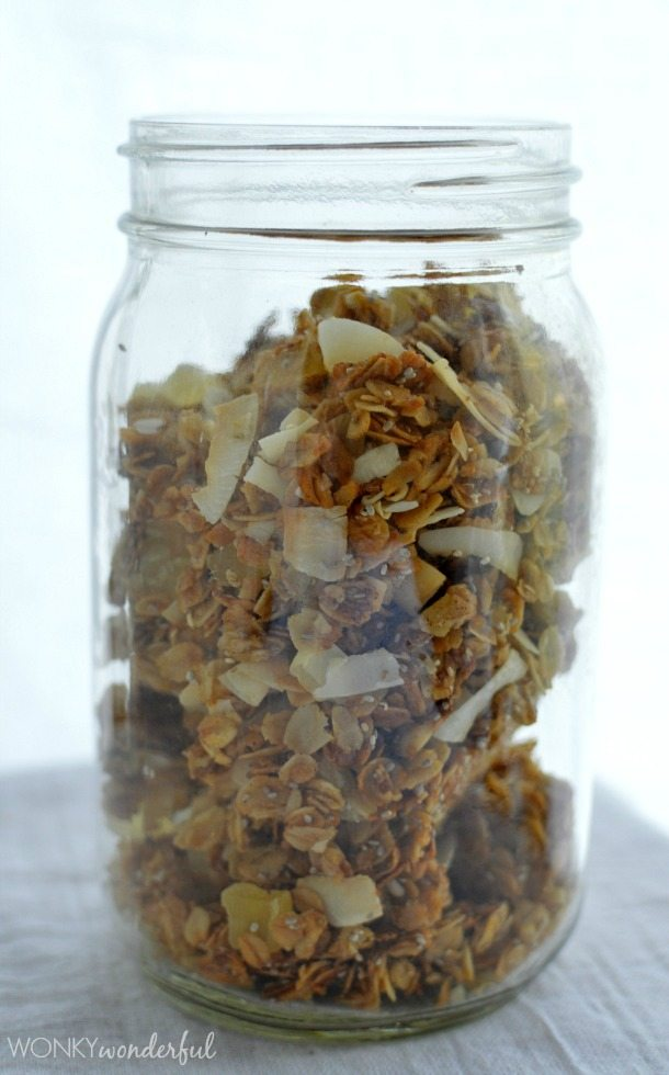 Homemade Granola with Pineapple and Coconut - wonkywonderful.com