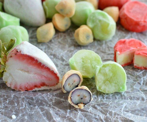 Frozen Yogurt Fruit Bites : Healthy Summer Dessert Recipe