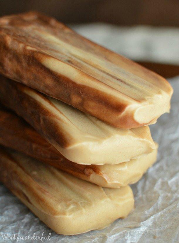 Chocolate Peanut Butter Dairy Free Popsicles : vegan dessert recipe : vegan pudding pops
