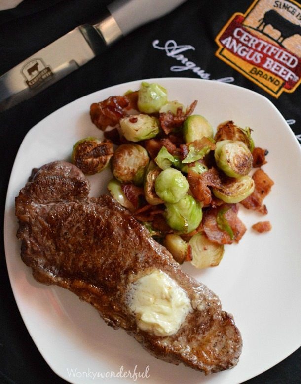 Skillet Steak with Bacon Brussels Sprouts : Dinner Recipe