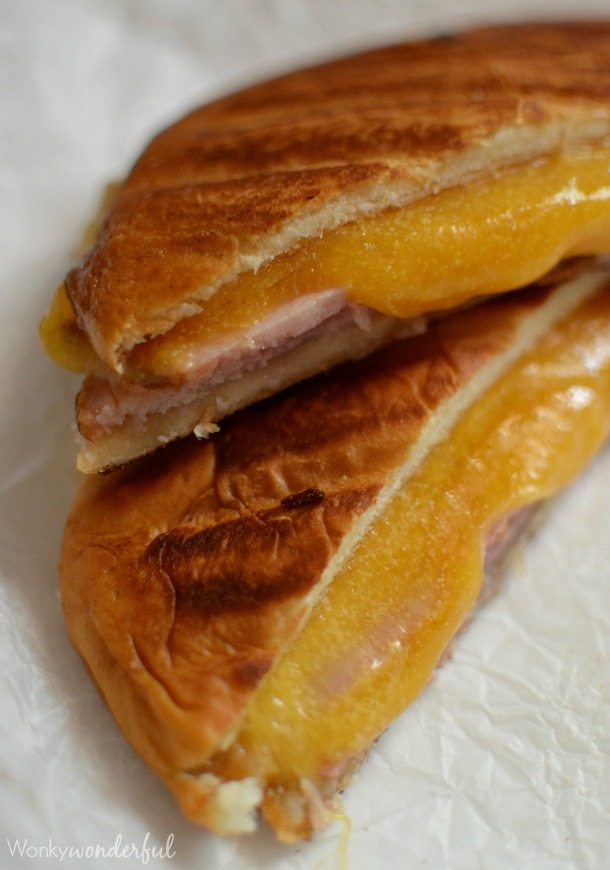 Ham and Cheese Panini with Homemade Horseradish Spicy Mustard : Spicy Grilled Sandwich Recipe