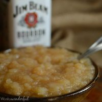 Slow Cooker Bourbon Apple Sauce