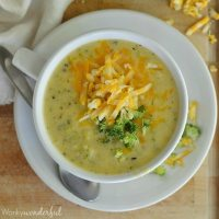 Broccoli Cheese Soup in 30 Minutes!