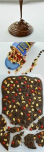 Chocolate Bark Recipe with Fruit and Nuts. Perfect for homemade holiday gifts!