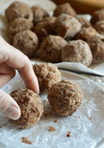 Cinnamon Sugar Fried Doughnut Recipe - These donuts are made with Musselman's Apple Butter, deep fried then coated in cinnamon and sugar. A breakfast the entire family will love!