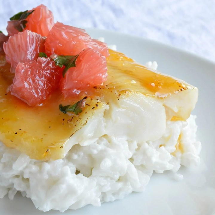 Grapefruit and Honey Glazed Baked Cod