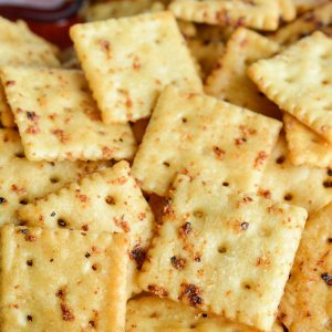 Seasoned Crackers and Party Drinks