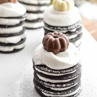 Chocolate Pumpkin Spice Ice Box Cakes