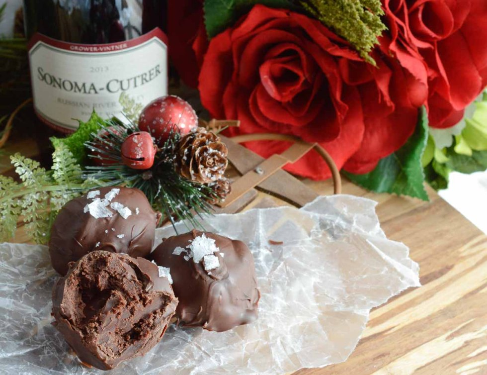 This Wine Chocolate Truffle Recipe is perfect for a Wine Tasting Party. These homemade truffles along with sweet and savory appetizers will make your holiday wine party extra special!