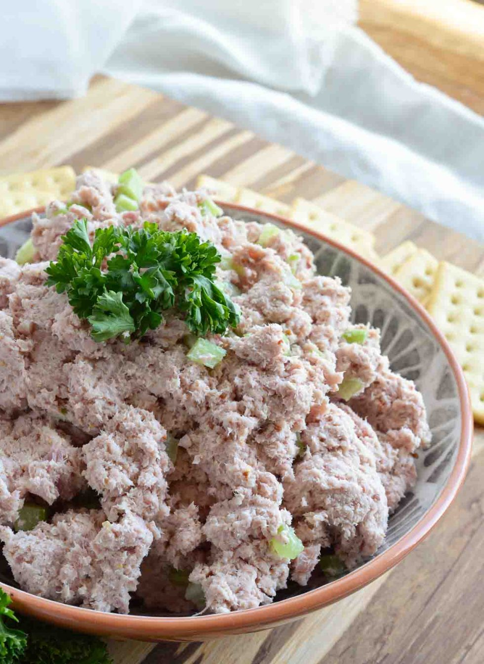 If you have leftover holiday ham, use it up in this Deviled Ham Recipe. Yes . . . spreadable ham dip! It may not be the prettiest but it makes up for that in flavor.