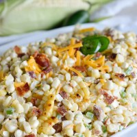 Jalapeño Popper Grilled Corn Salad