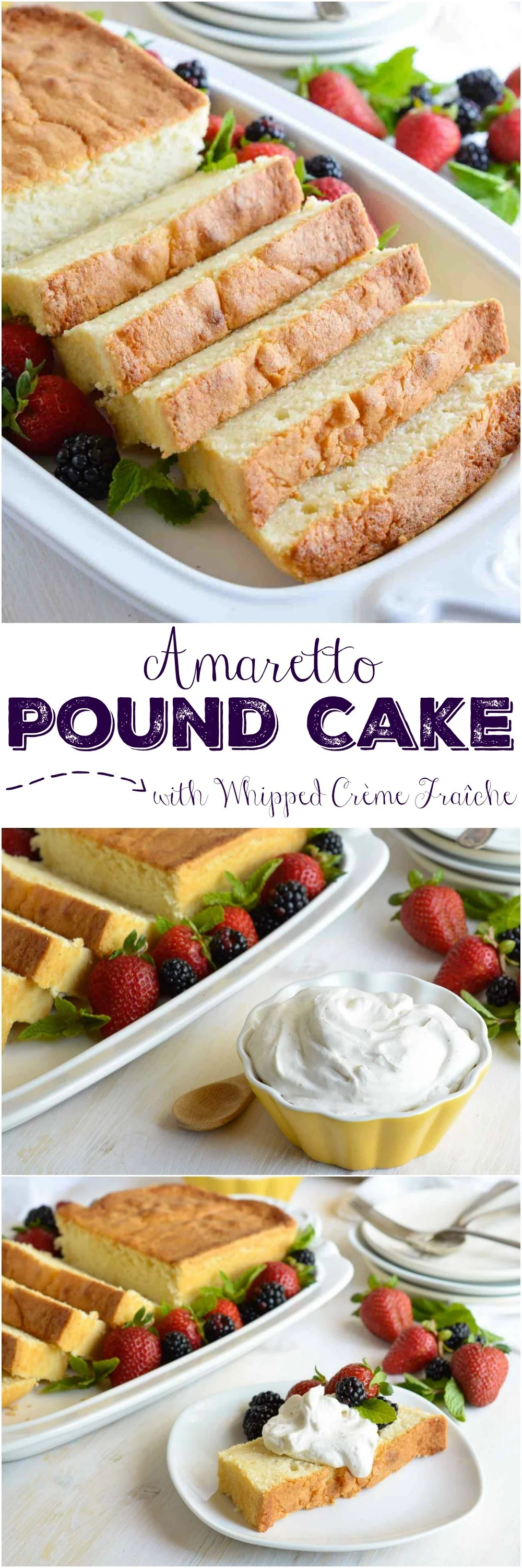 Amaretto Pound Cake Recipe With Whipped Cr 232 Me Fra 238 Che