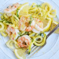 Lemon Dill Shrimp Zucchini Noodle Recipe