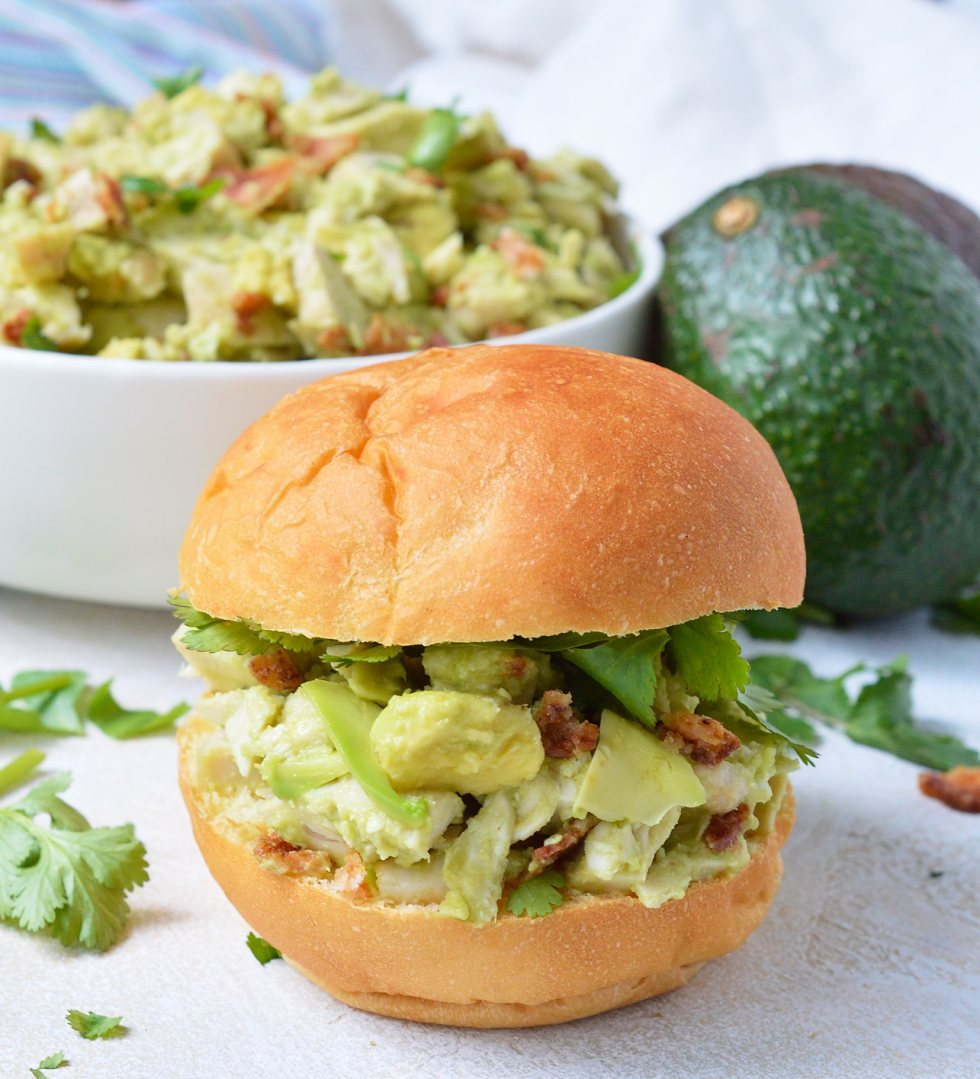 Wanting to eat healthy and nutritious without giving up your favorite foods? This Bacon Avocado Chicken Salad Recipe is full of flavor, healthy fats, no-mayo and is Whole30 friendly.