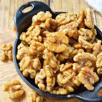 Easy Maple Glazed Walnuts