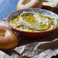 Creamy Hummus Bagel Spread Recipe