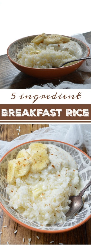 This 5 Ingredient Breakfast Rice Recipe is a dish from my childhood. Not only is it quick and easy but a 3rd grader can make it. . . I did. Sweet white rice swimming in milk and butter with a sprinkle of cinnamon. Top this comforting breakfast bowl with you favorite fruit, nuts or yogurt.