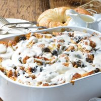 Rum Raisin Croissant Bread Pudding Bake