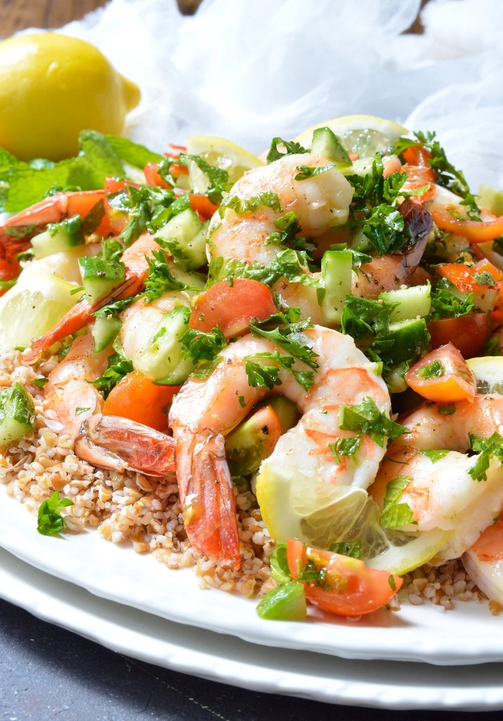 plump shrimp tossed with fresh mint and parsley