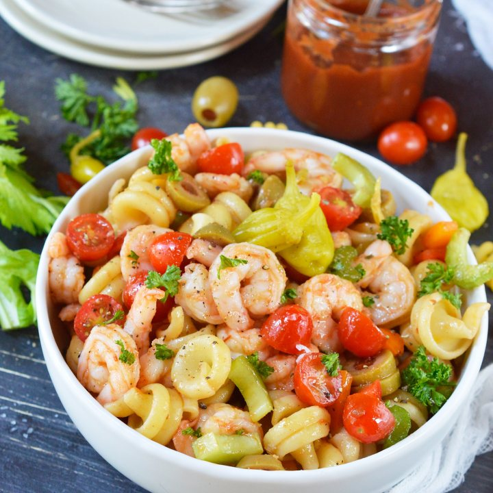 Bloody Mary Shrimp Pasta Salad Recipe
