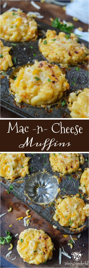 This Mac n Cheese Muffins Recipe is a fun way to serve up your favorite comfort food! Perfect for dinner or a side dish, this recipe is kid approved!