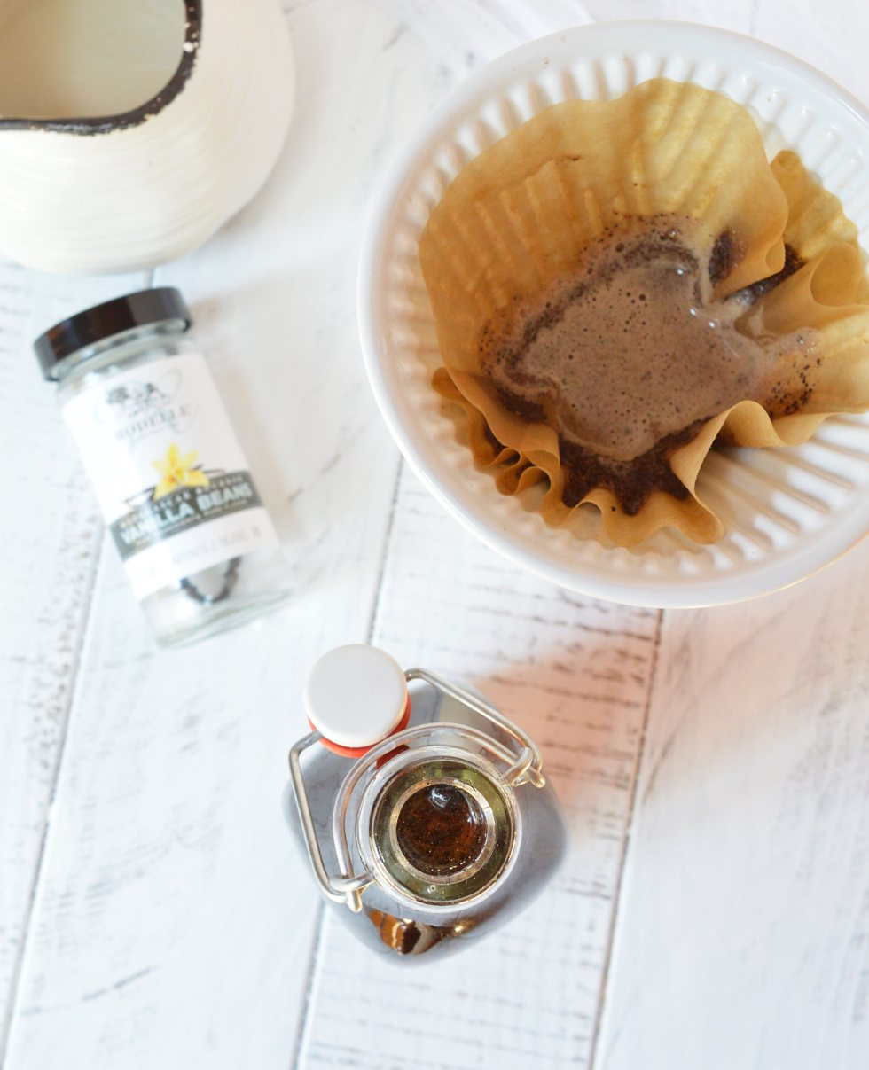 Homemade Vanilla Coffee Syrup is easy to make and will take your morning coffee to the next level! This starts with a simple syrup recipe that is infused with a blast of vanilla bean flavor! Make coffee-house style coffee at home or use this vanilla syrup in tea, desserts or as a topping.