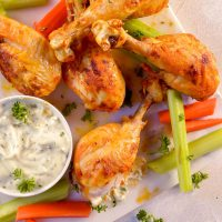 Buffalo Chicken Air Fryer Chicken Legs