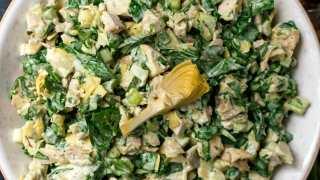 Spinach Artichoke Chicken Salad