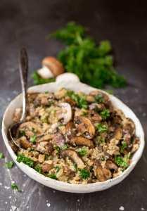 Cauliflower Mushroom Rice (Paleo, Whole30)