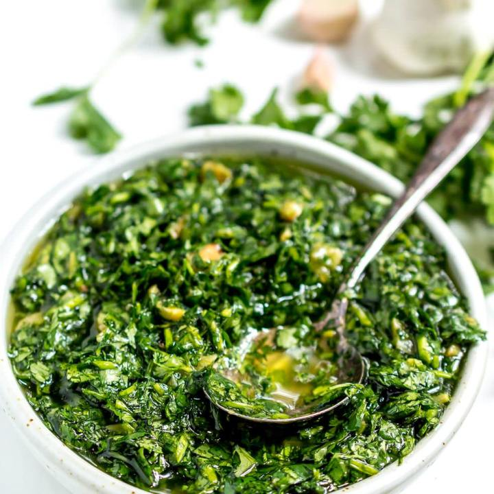 Roasted Garlic Cilantro Chimichurri Sauce