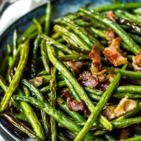Roasted Green Beans with Bacon Recipe