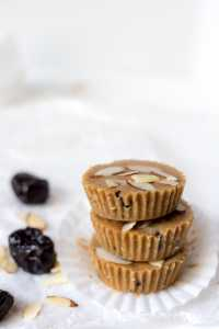 stack of prune and almond butter cups