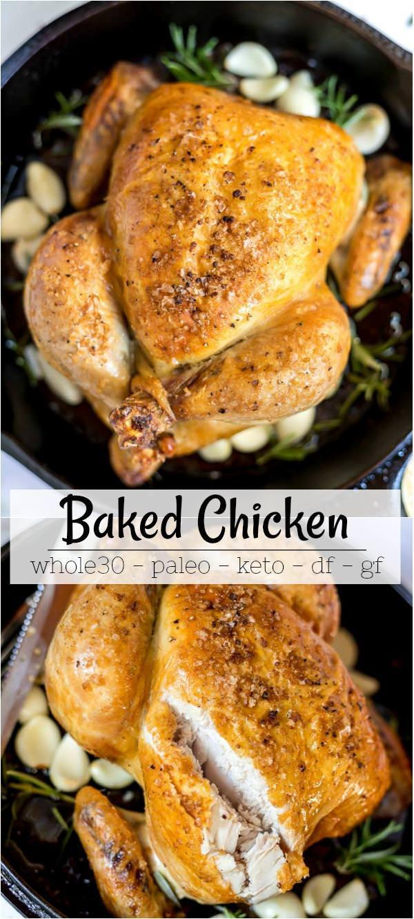 easy roast chicken recipe photo collage