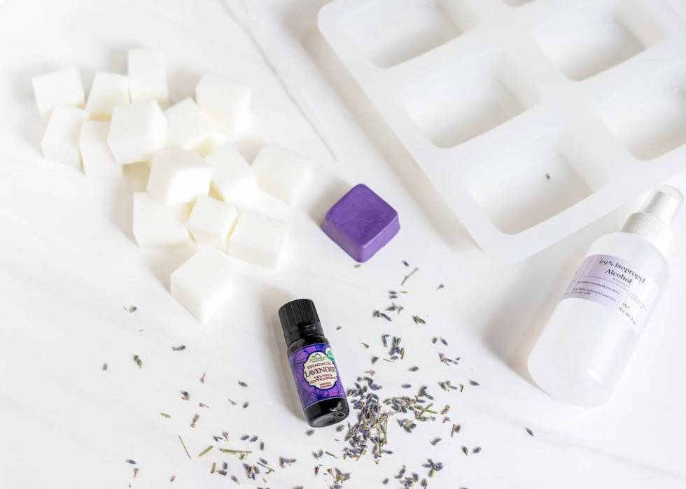 ingredients for melt and pour lavender soap