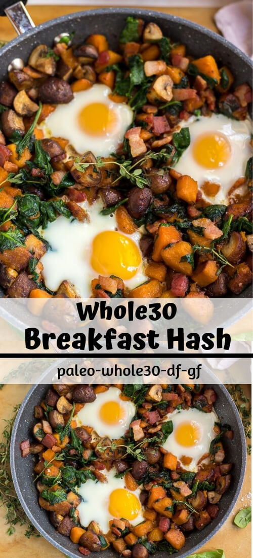 Whole 30 Breakfast Hash Recipe photo collage