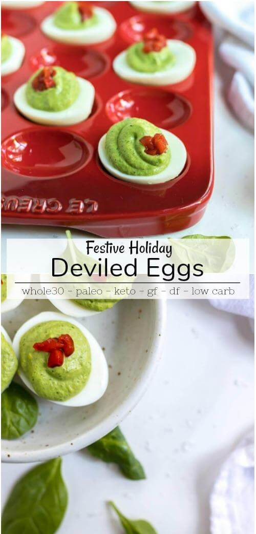 holiday deviled egg recipe photo collage