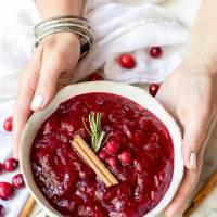 Maple Cinnamon Paleo Cranberry Sauce Recipe