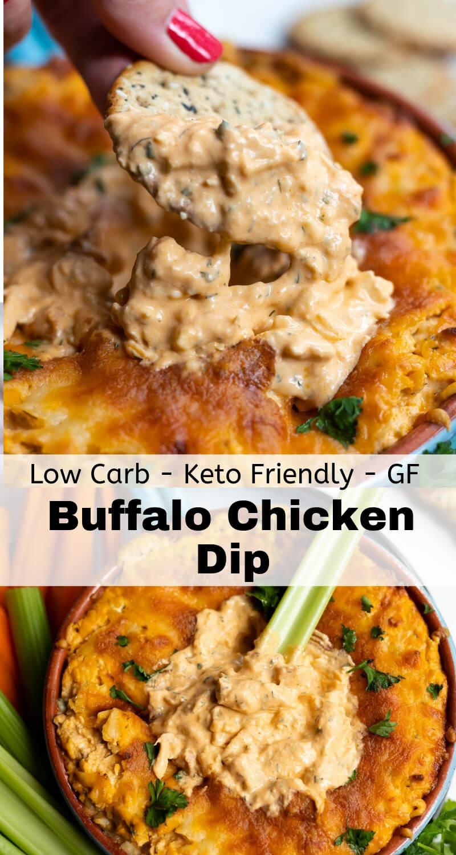 buffalo chicken dip recipe photo collage