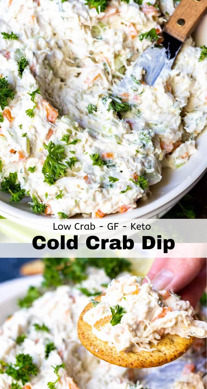 cold crab dip recipe photo collage