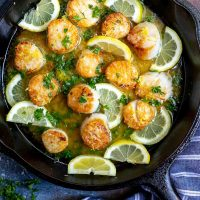 Lemon Butter Pan Seared Scallops Recipe