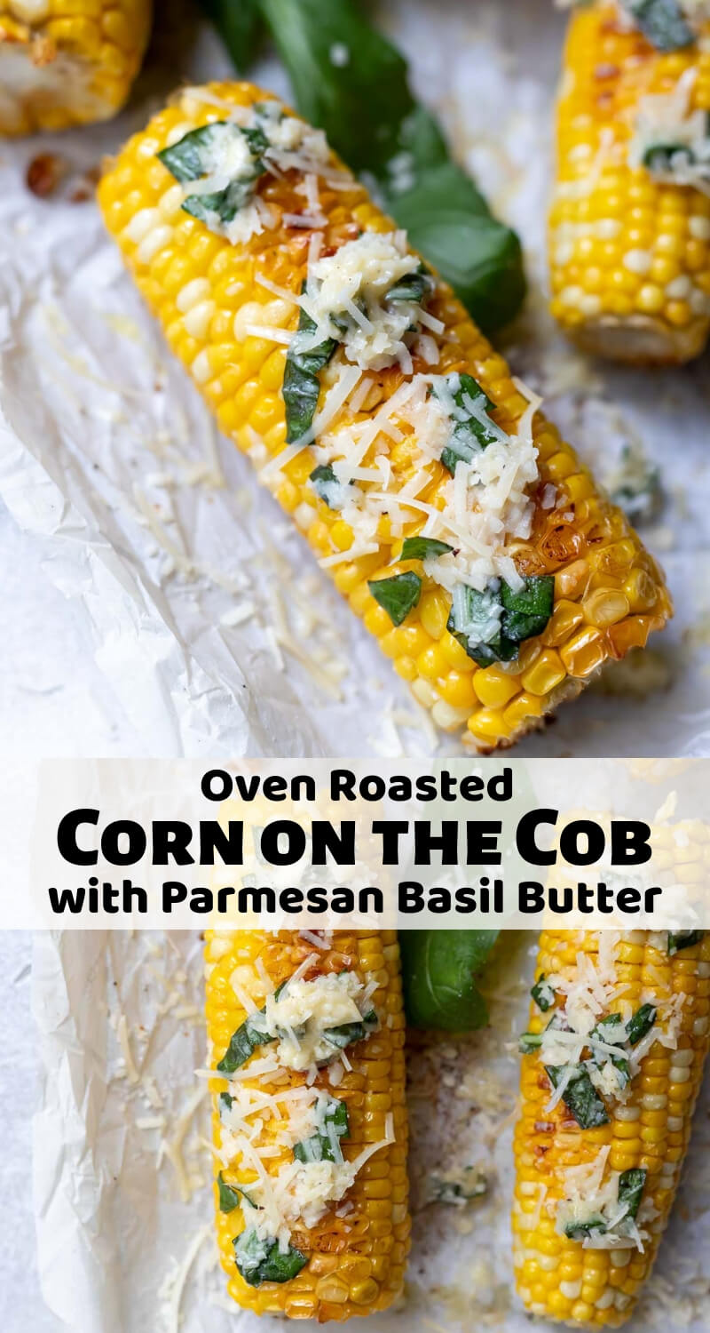 oven roasted corn on the cob recipe photo collage