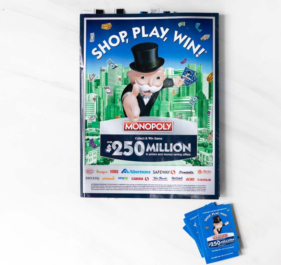 monopoly shop play win game board and pieces