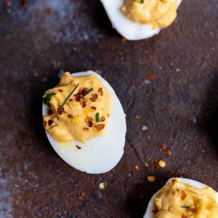 Spicy Deviled Eggs Recipe