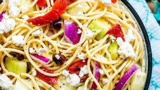 Greek Spaghetti Salad